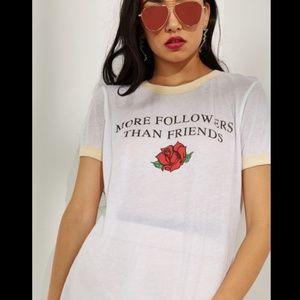 NWT Wildfox More Followers Than Friends tee